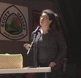 Kelly Hughes presenting at the SOJ